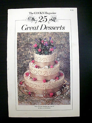 The Cook's Magazine 25 Great Desserts Vintage Cookbook Recipes