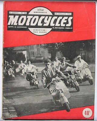 Vintage 1950's French motorcycle magazine cool Lambretta Vespa scooter cover art