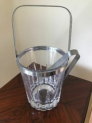 Ice Bucket Stainless Steel And Cut Crystal by Hercules Inox Brazil NEW PRICE!!!!
