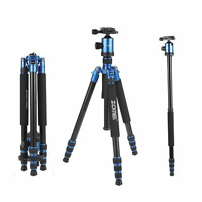 ZOMEI Z818 Professional Aluminum Tripod Monopod&Ball Head for DSLR Camera Blue