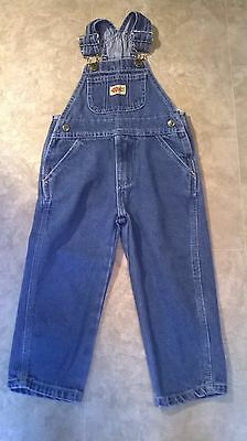 Blue Jean Bib Overalls Size 2 Toddler Field & Forest