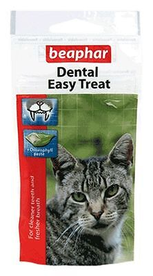 Beaphar Cat Kitten Teeth Fresh Breath Dental Easy Treats Snack 35g
