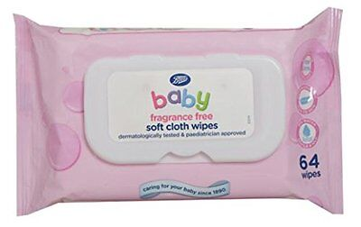 Boots Baby Soft Cloth Wipes Fragrance Free 12 Pack BNIB