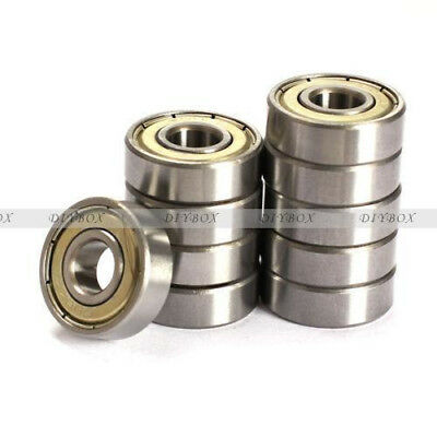 10PCS Flange Ball Bearing 608ZZ 8*22*7 mm Metric Flanged Bearing