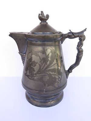 Antique Silver-Plate Coffee Pitcher Hall Elton Co. Wallingford, Ct...pre 1890