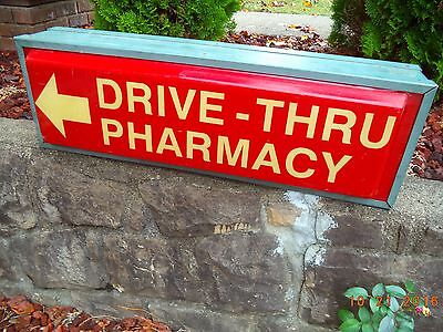 "Drive Thru-Pharmacy Double Sided Sign     36"" X  12"""