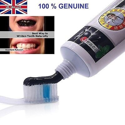 Active Bamboo Charcoal Black Toothpaste  Natural Fresh Poilsh Teeth Whitening Uk