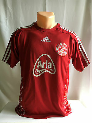 DANSK BOLDSPIL UNION DBU DENMARK  Adidas football shirt jersey (S) Looking good!