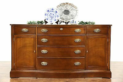 Traditional Vintage Mahogany Sideboard, Server or Buffet, Serpentine Front