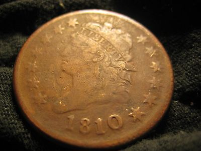 1810 /09 Classic Head Large Cent S-281 Overdate