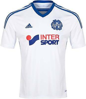 adidas Mens T Shirt Olympique Marseille Jersey Football Large White A132-19