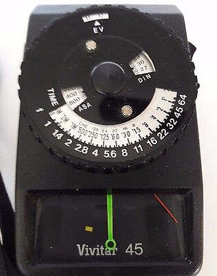 Vivitar 45 Light Meter with Case in Excellent Condition fully working