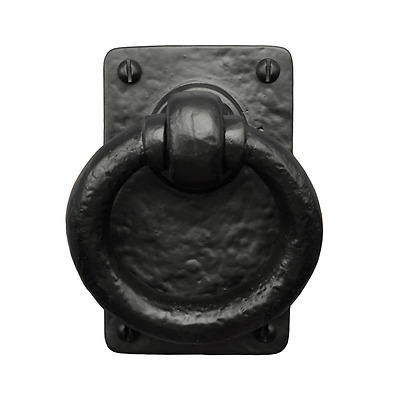 Iron Valley - 4.5'' Ring Pull - Door & Gate Handle - Solid Cast Iron