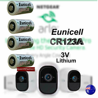 4 x Eunicell 3V CR123A CR17345 Non Rechargeable Battery Netgear Arlo Camera