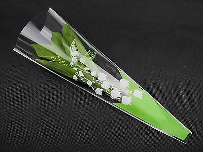 Lot de 100 emballage cellophane roses en bois ou brins de muguet 1er Mai CLO9