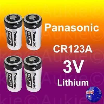 4 x Panasonic 3V CR123A CR17345 Non Rechargeable Battery Netgear Arlo Camera