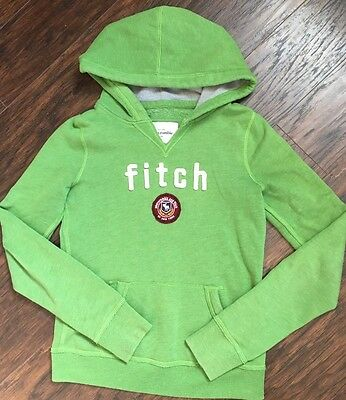 Abercrombie Fitch Long Sleeve Hoodie Kids Size L Large Green