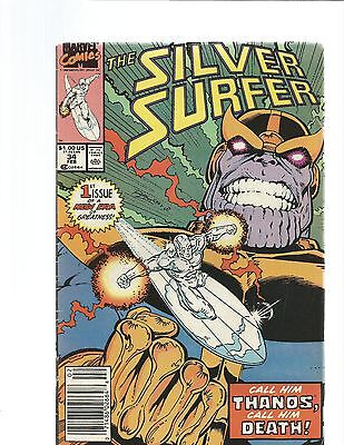 Silver Surfer 34 and 46   RETURN OF THANOS AND WARLOCK!!!