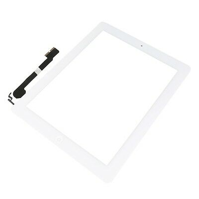 For iPad 4 Replacement Touch Screen Glass Digitizer & Home Button A1458 White