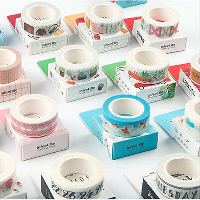 Washi Tape Art Crafty Roll Decorate Basic Classic DIY Adhesive Paper Tape 15X7mm