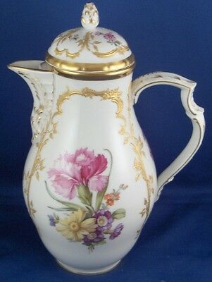Rar KPM Berlin Porcelain Neuzierat Coffee Pot Porzellan Kaffee Kanne Art Nouveau