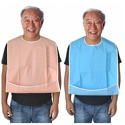 Washable Large Adult Mealtime Bib Protector Disability Aid Cook Dining Clothes