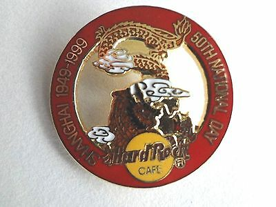 Hard Rock Cafe SHANGHAI 1999 50th National Day PIN Gold Dragon in Ring HRC