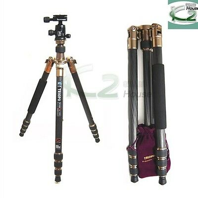 PRO Photo Heavy Duty Tripod Monopod Carbon Fiber with Ball Head for DSLR Cameras