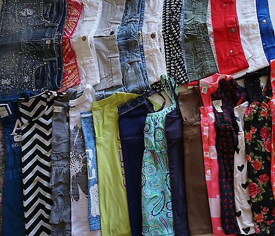 Girls 14-16 Summer Clothes Lot of 27 Items L1-17 Shorts, Blouses