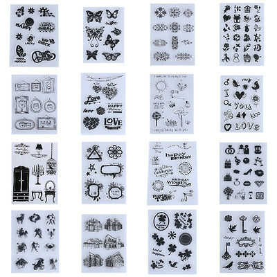 New Vintage Transparent Silicone Clear Rubber Stamp Sheet Cling Scrapbooking DIY