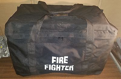 FIREFIGHTER Duffel Bag LARGE Red Handled Fire Fighter Fire Man Gear Bag Pack