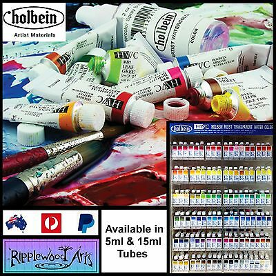 Holbein Moist Transparent Watercolor - Available in 5ml & 15ml tubes - SERIES A