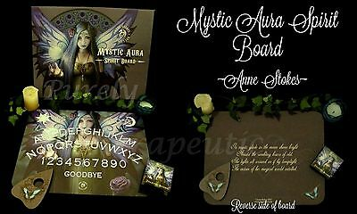 ~'MYSTIC AURA' MESSAGE TALKING OUIJA BOARD~Anne Stokes~Angel Wicca Gothic