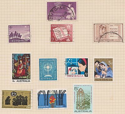 (Q22-8) 1957-70 AU mix of 11 Christmas stamps