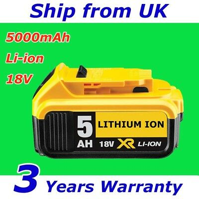 For Dewalt DCB184 DCB182 18Volt Li-ion XR 5Ah Slide Replacement Battery