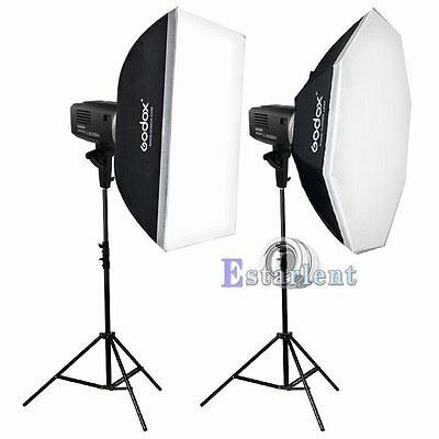 2Pcs Godox AD600BM 600W HSS 1/8000s Wireless Studio Flash Strobe Light Kits【US】