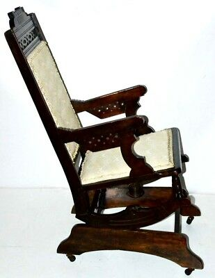 Antique Edwardian mahogany Rocking Chair - Free Shipping [PL3369]