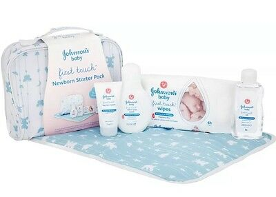 Johnsons Baby Sensitive Touch Newborn Starter Pack With Changing Mat Exp 01/2019