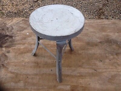 Vintage Old Metal Milking Stool