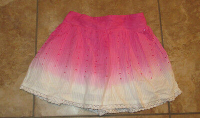 ** Justice Size 12 Pink & White Skort Skirt with Shorts Under