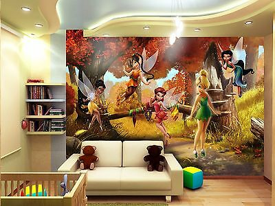 BIG Wall Mural Photo Wallpaper FAIRIES TINKER BELL Girls Kids Room Decor 360x254