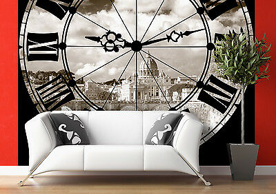 GIANT Wall Mural Photo Wallpaper TOWER CLOCK CATHEDRAL Living Room Decor 360x254