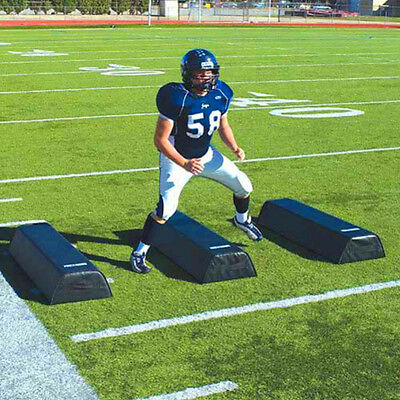 Football Training Aids Step Over Dummies Tackle Defense High Black New