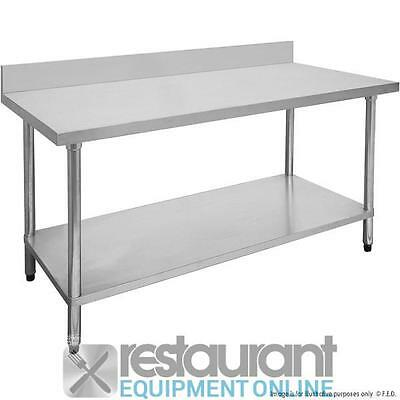 F.E.D. Economic S/S Workbench with Splashback 600 Deep Stainless Steel | Prep Be