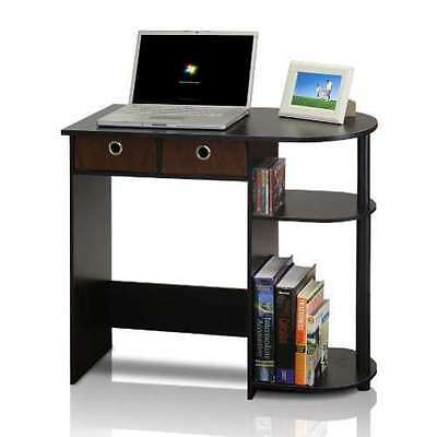 Small Laptop Notebook Computer Desk Table Home Office Bedroom Storage New, Brown