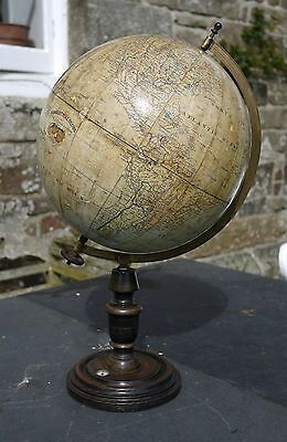 An Antique 13 Inch Diameter Terrestrial Table Globe By John Heywood Circa 1905