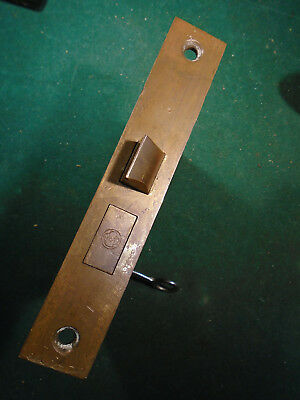 VINTAGE YALE & TOWNE BRASS MORTISE LOCK w/KEY - COMPLETELY RECONDITIONED  (8248)