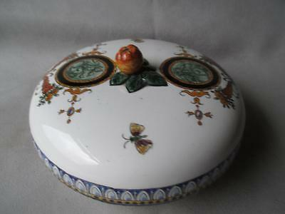 Antique Engish Chinoiserie Covered Bowl Or Dish