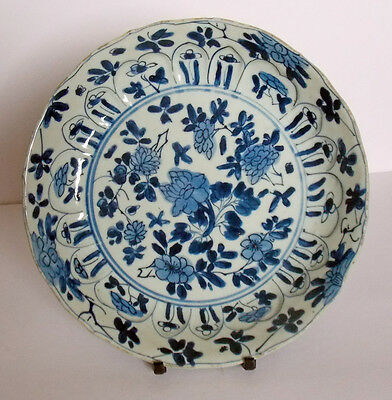 Chinese Kangxi period blue and white porcelain plate