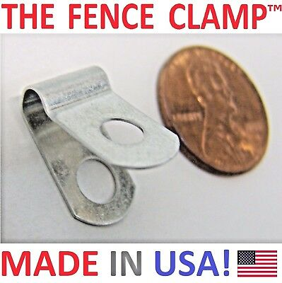 THE FENCE CLAMP - 100x ALUMINUM CLIPS LOOPS = MOUNT WELDED WIRE TO VINYL FENCING